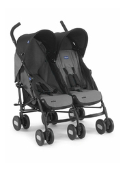 Chicco Echo Twin Double Stroller, Coal, Grey