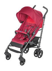 Chicco Lite Way 3 Basic Single Stroller with Bumper Bar, Red Berry
