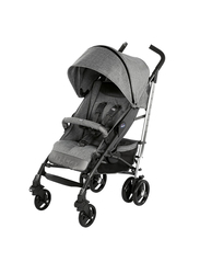Chicco Lite Way 3 Top Single Stroller with Bumper Bar, Special Edition, Legend, Grey