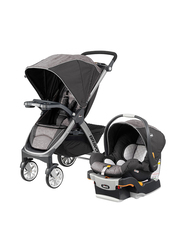 Chicco Bravo Single Stroller with Child Tray, Meridian, Grey