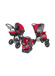 Chicco Trio Activ3 Single Stroller with Kit Car, Red Berry