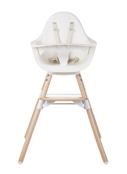 Childhome Evolu One 80° Chair 2-in-1 with Bumper, White
