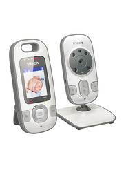VTech Safe and Sound 2 Inch TFT LCD Screen Digital Video Baby Monitor, White/Grey