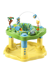 Evenflo Exersaucer Zoo Friends Baby Bouncer, with Lights and Music, Yellow/Green