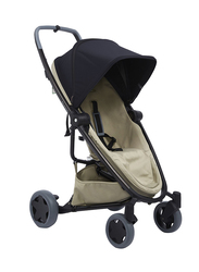 Quinny Zapp Flex Plus Single Stroller, Black on Sand