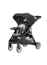 Chicco Bravo Single Upgradable to Double Stroller for 2 Limited Edition, Genesis, Black