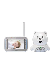 VTech Safe and Sound 4.3 Inch TFT LCD Sccreen Digital Video Baby Monitor in Bear Housing, White/Grey