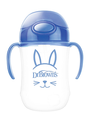 Dr. Brown's Baby's First Straw Cup with Handles, 6 Months+, Blue