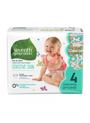 Seventh Generation Baby Diapers, Stage 4, Junior, 10-15 kg, 27 Count