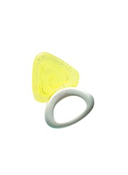 Pigeon Cooling Teether, Triangle, Yellow
