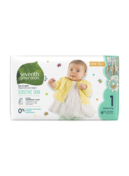 Seventh Generation Baby Diapers, Stage 1, Newborn, 3-6 kg, 40 Count