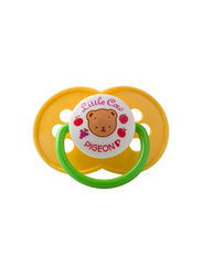 Pigeon Rubber Pacifier Orthodontic, Yellow