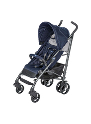 Chicco Lite Way 3 Basic Single Stroller with Bumper Bar, India Ink, Blue