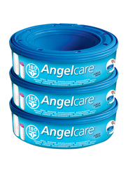 Angelcare Refill Cassettes Nappy Disposal System, Pack of 3, Blue
