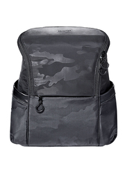 Skip Hop Paxwell Diaper Backpack, Black Camo