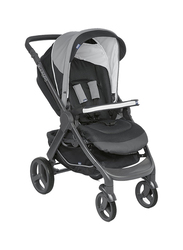 Chicco Duo StyleGo Up Single Stroller, Jet Black