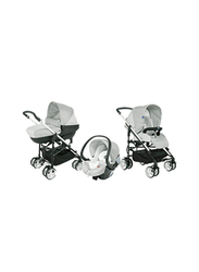 Chicco Trio My City Single Stroller, Glacial, White