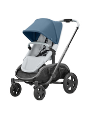 Quinny Hubb Single Stroller, Blue Coral on Grey