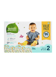 Seventh Generation Free & Clear Diapers, Stage 2, Newborn, 5-8 kg, Triple Mega Pack, 96 Count