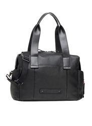 Storksak Kym Leather Shoulder Bag, Black