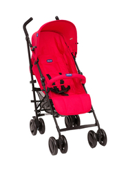 Chicco London Up Single Stroller with Bumper Bar, Red Passion