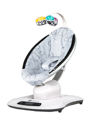4moms MamaRoo 4.0 Baby Bouncer Swing, with Music, Silver Plush