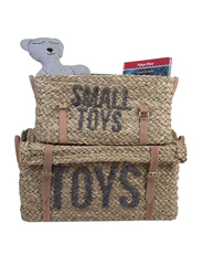Childhome Belt Toys & Small Toys Rattan Basket Set, 2 Pieces, Brown