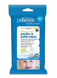 Dr. Brown's Pacifier & Bottle Wipes, Pack of 40, White