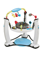Evenflo Exersaucer Jump and Learn Stationary Jumper EV Activity Centre, with Lights and Music, Blue/White
