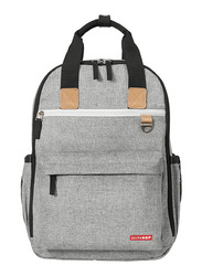 Skip Hop Duo Diaper Backpack, Grey Melange
