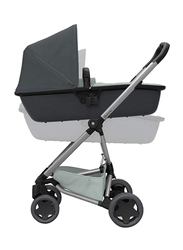 Quinny Zap LUX Carrycot, Grey On Graphite