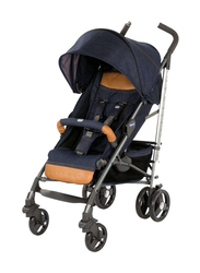 Chicco Lite Way 3 Top Single Stroller with Bumper Bar, Special Edition, Denim, Blue