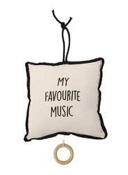 Childhome Music Pillow Box, Black/White