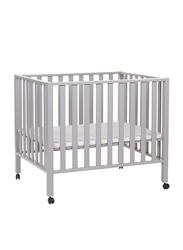 Childhome Playpen 94 Beech 75 x 95cm Cribs, Stone Grey