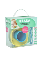 Beaba Silicone Meal Set, 4 Piece, Blue