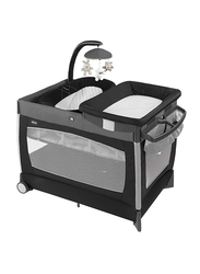 Chicco Lullaby Orion Play Yard, with Lights and Music, Black/Grey