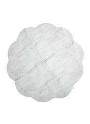 Misioo Flower Play Mat, Velvet White Marble