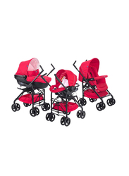 Chicco Trio Sprint Single Stroller with Kit Car, Red Passion