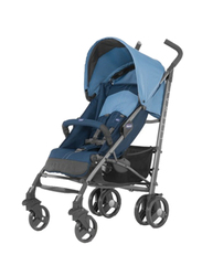 Chicco Lite Way Basic Single Stroller with Bumper Bar, Aster, Blue
