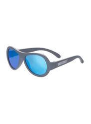 Babiators Full Rim Original Aviator Junior Premium Sunglasses for Kids, Blue Steel, BAB-036