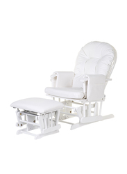 Childhome Gliding Chair With Footrest, White