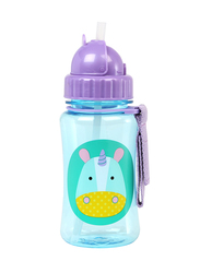 Skip Hop Zoo Straw Bottle, 350ml, Unicorn, Purple