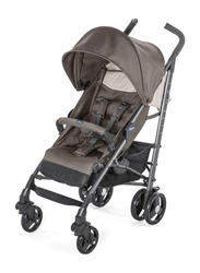 Chicco Lite Way 3 Basic Single Stroller with Bumper Bar, Dove Grey