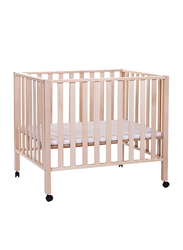 Childhome Playpen 94 Beech 75 x 95cm Cribs, Natural Brown