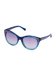 Roberto Cavalli Tseang Full Rim Cat Eye Sunglasses for Women, Grey Lens, 992S 91B, 55/18/140