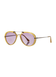 Tom Ford Aaron Full Rim Oval Yellow Sunglasses for Women, Violet Lens, TF479 39Y, 57/17/145