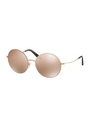 Michael Kors Kendall II Full Rim Round Rose Gold Sunglasses for Women, Mirrored Rose Gold Lens, MK5017 1026R1, 55/19/135