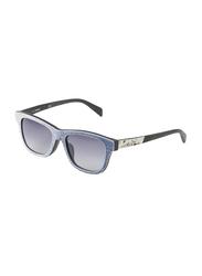 Diesel Full Rim Wayfarer Sunglasses Unisex, Blue Lens, DL0111 05W, 52/18/140