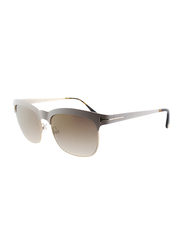 Tom Ford Elena Half Rim Square Grey Sunglasses for Women, Brown Lens, TF437 25F, 54/17/135