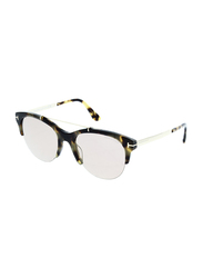 Tom Ford Adrenne Half Rim Cat Eye Black Sunglasses for Women, Purple Lens, TF517 56Z 55, 55/19/140